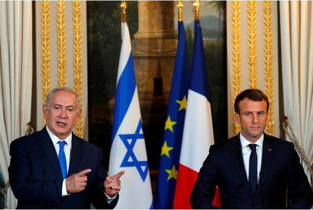 马克龙同内塔尼亚胡通话 呼吁以色列与巴勒斯坦和谈