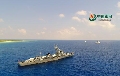 军警民联合编队首次巡逻西沙岛礁 历时五天四夜