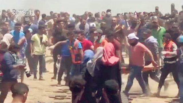 14日加沙地带冲突现场画面