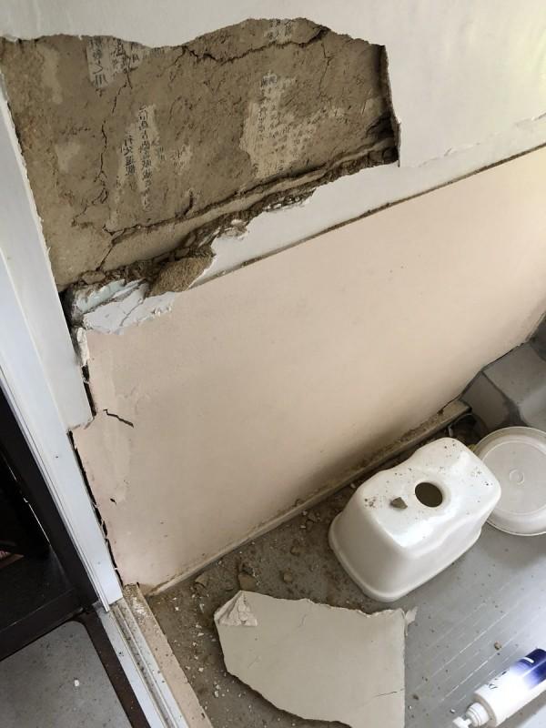 日本大阪地震后墙壁露出神秘文字 竟来自《左传》