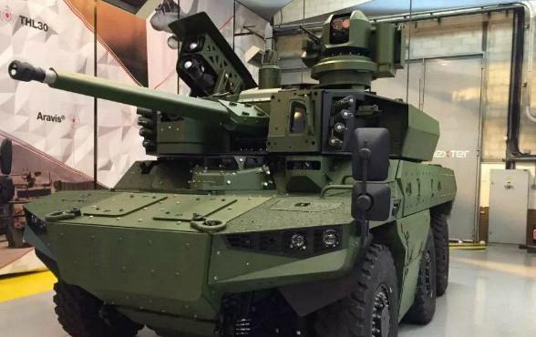 """法国新型""""美洲豹""""侦察车或成为新一代反恐利器"""