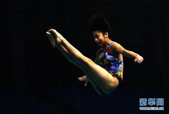 跳水冠军赛马瞳女1米板摘金 黄博文男子全能夺冠