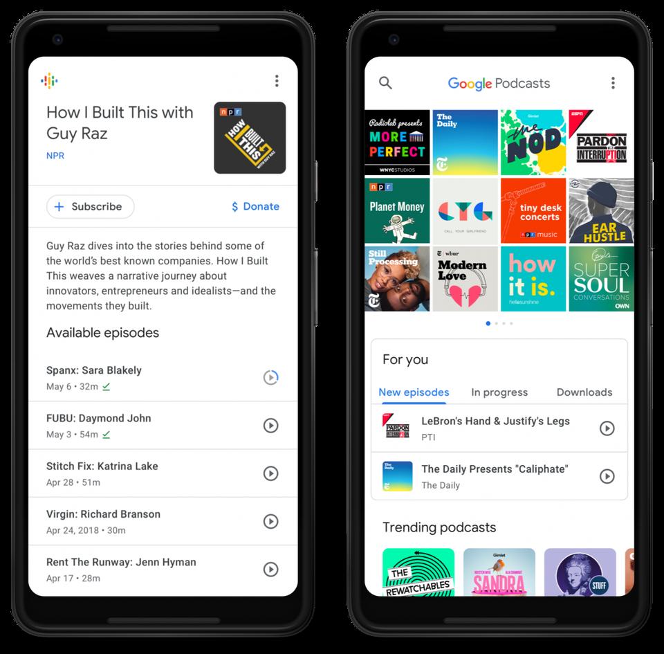 谷歌推出播客应用Google Podcasts 聚合200万音频节目