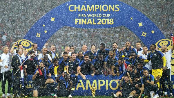 梦回98!法国4:2战胜克罗地亚再次捧起大力神杯