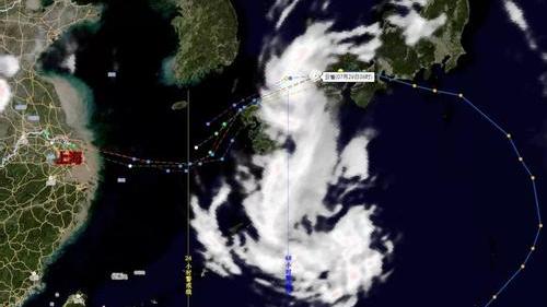 """台风""""云雀""""逼近华东沿海"""