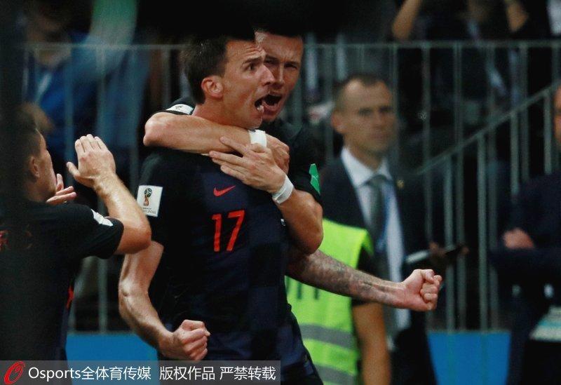 加时准绝杀 克罗地亚2-1英格兰历史首进世界杯决赛