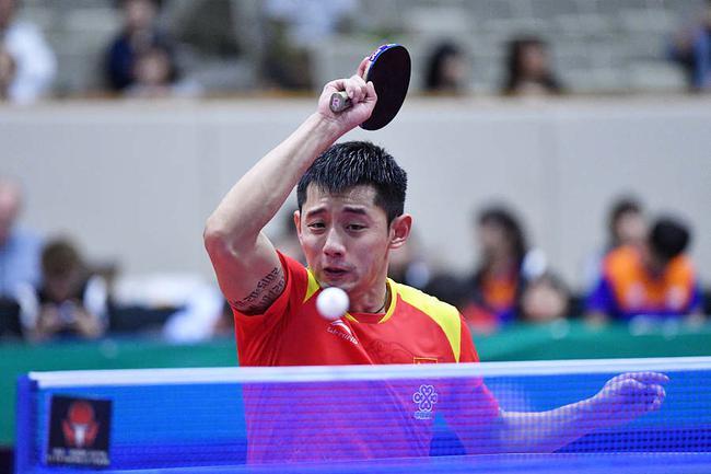 韩国公开赛张继科4-2印度选手 资格赛获两连胜