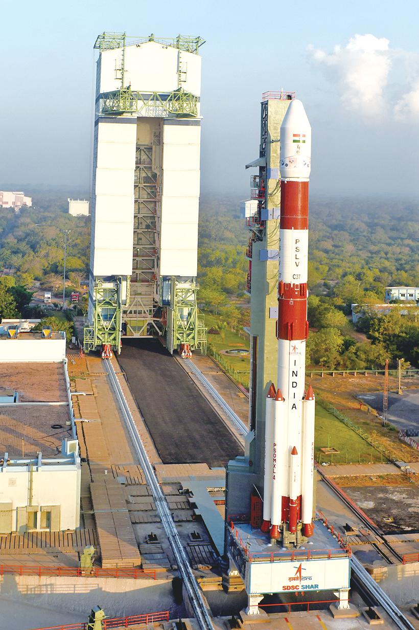 印度航天新雄心:每月发射两次 曾创一箭104星