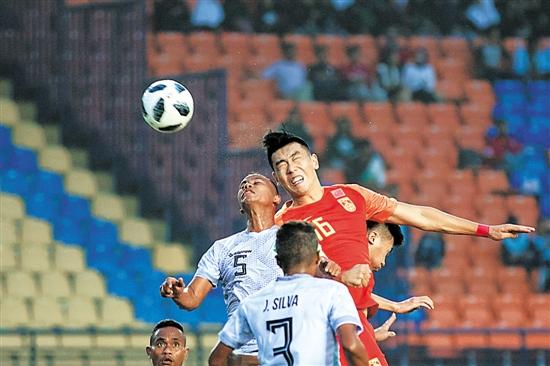 6比0大胜东帝汶,12年来国足首获亚运开门红
