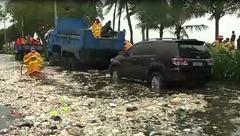 菲首都及周边省份暴雨引发淹水 4万多人流离失所