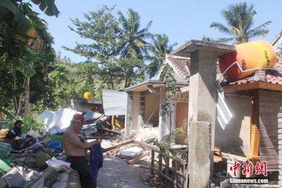 NASA:地震导致印尼龙目岛西北海岸抬高25厘米
