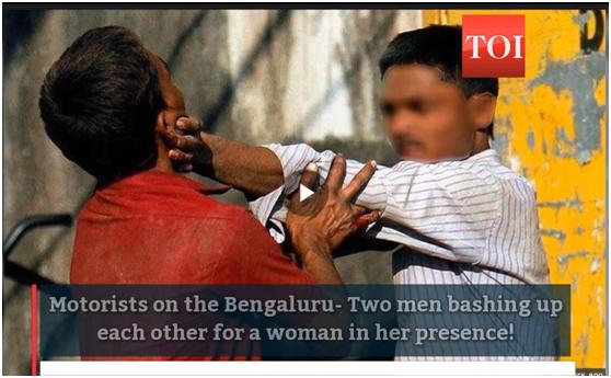 """印度俩""""丈夫""""为一女子高速上打架,女子却和另一男人""""私奔""""了…"""