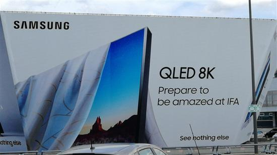 三星预告新款8K QLED电视将在IFA发布:无边框设计