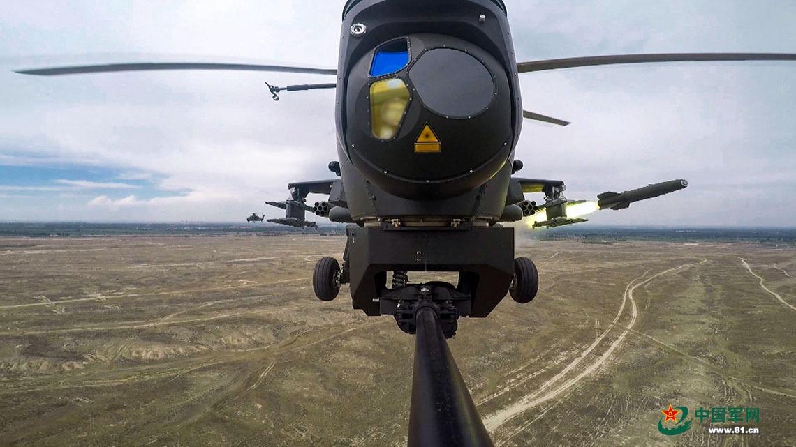 中国陆航机队抵俄参加上合军演 派出多架武直10