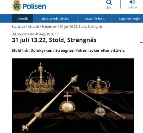 震惊!盗贼光天化日从瑞典一教堂偷走三件无价之宝