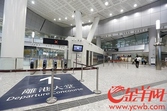 记者探营广深港高铁西九龙站 由穗至港只需48分钟