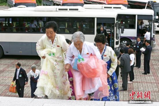 韩朝离散家属团聚第3天:双方亲人将进行告别会面