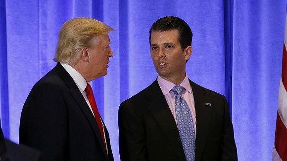 """特朗普长子称不担心因""""通俄门""""坐牢:""""我没做亏心事"""""""