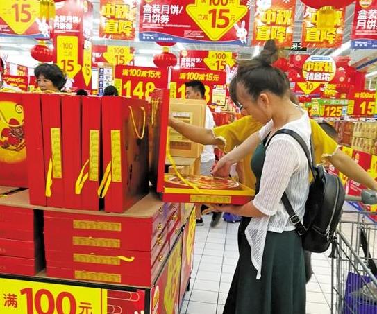 中秋节前夕月饼促销最后冲刺 双黄、五仁最好卖