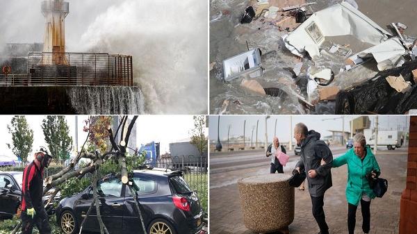"""風暴""""阿里""""襲擊英國 致2人死亡逾19萬戶斷電"""