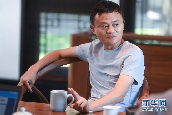 (中國網事·圖文互動)(2)新華社專訪馬云:已識乾坤大,猶憐草木青