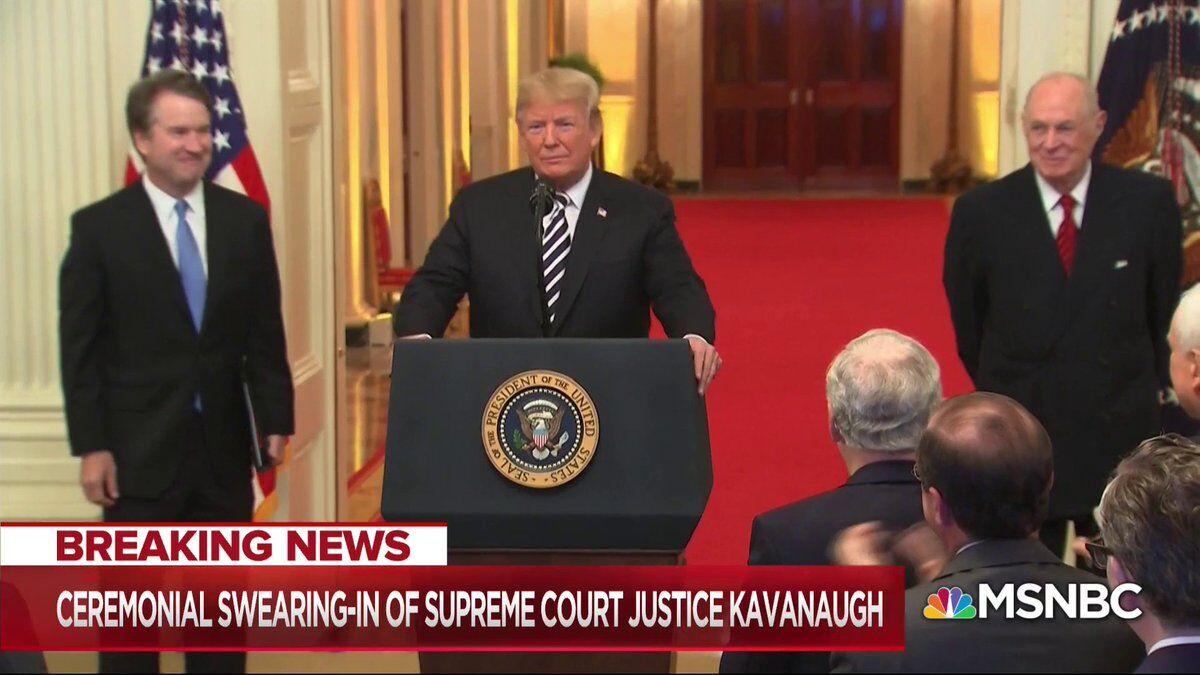 卡瓦諾就職美最高法院大法官 特朗普:代表國家向你道歉