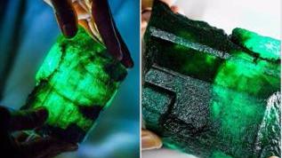 赞比亚发掘巨型祖母绿将拍卖 重逾5000克拉