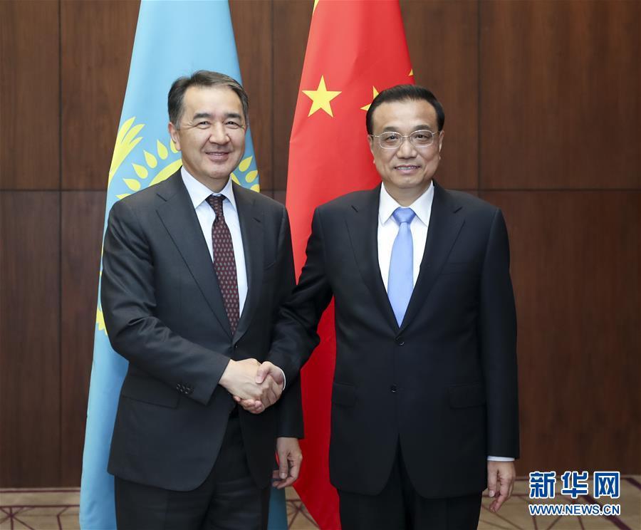 (时政)李克强会见哈萨克斯坦总理萨金塔耶夫