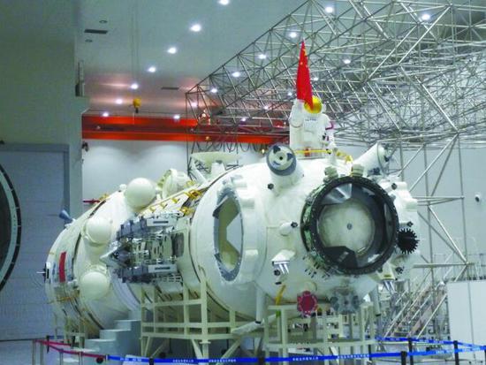 """""""天和""""号空间站核心舱首次公开 亮相珠海航展"""