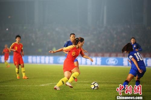 中國女足2:0勝泰國女足 獲永川國際女足錦標賽冠軍