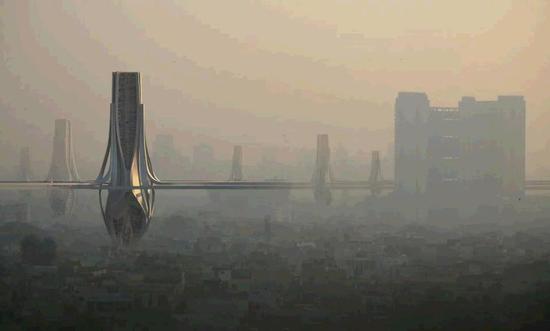 迪拜拟造巨型除霾塔 每天净化320万立方米清洁空气