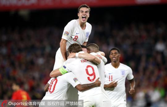 欧国联-斯特林梅开二度 英格兰客场3-2战胜西班牙