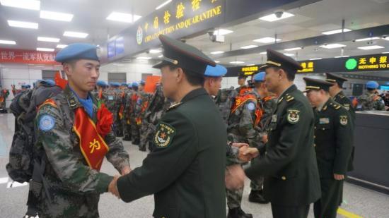 中国第五批赴南苏丹(朱巴)维和步兵营成立