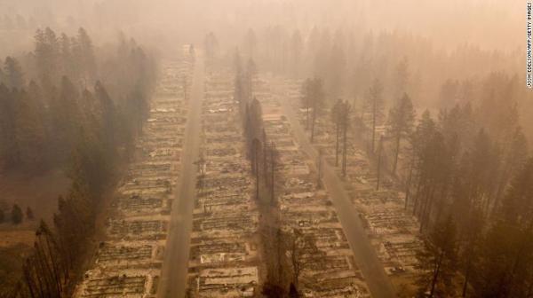 美国加州山火已致63死,失踪人数升至600人