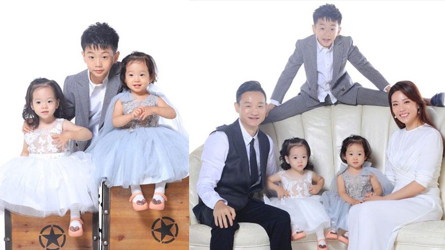 最好认的双胞胎!杨阳洋妹妹一个像爸一个像妈超可爱