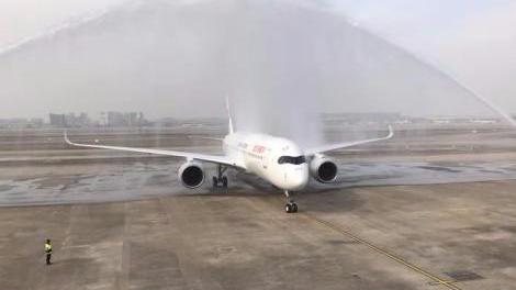 東航引進首架A350飛機 全球首發包廂式公務艙