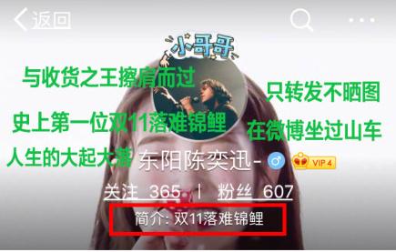 """网友因没晒图错失大奖 成双11首位""""落难锦鲤"""""""