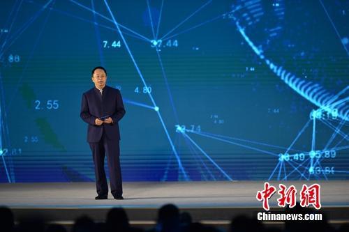 周鸿祎在互联网大会上介绍360安全大脑。<a target='_blank' href='http://www.chinanews.com/' >中新网</a> 李骏 摄