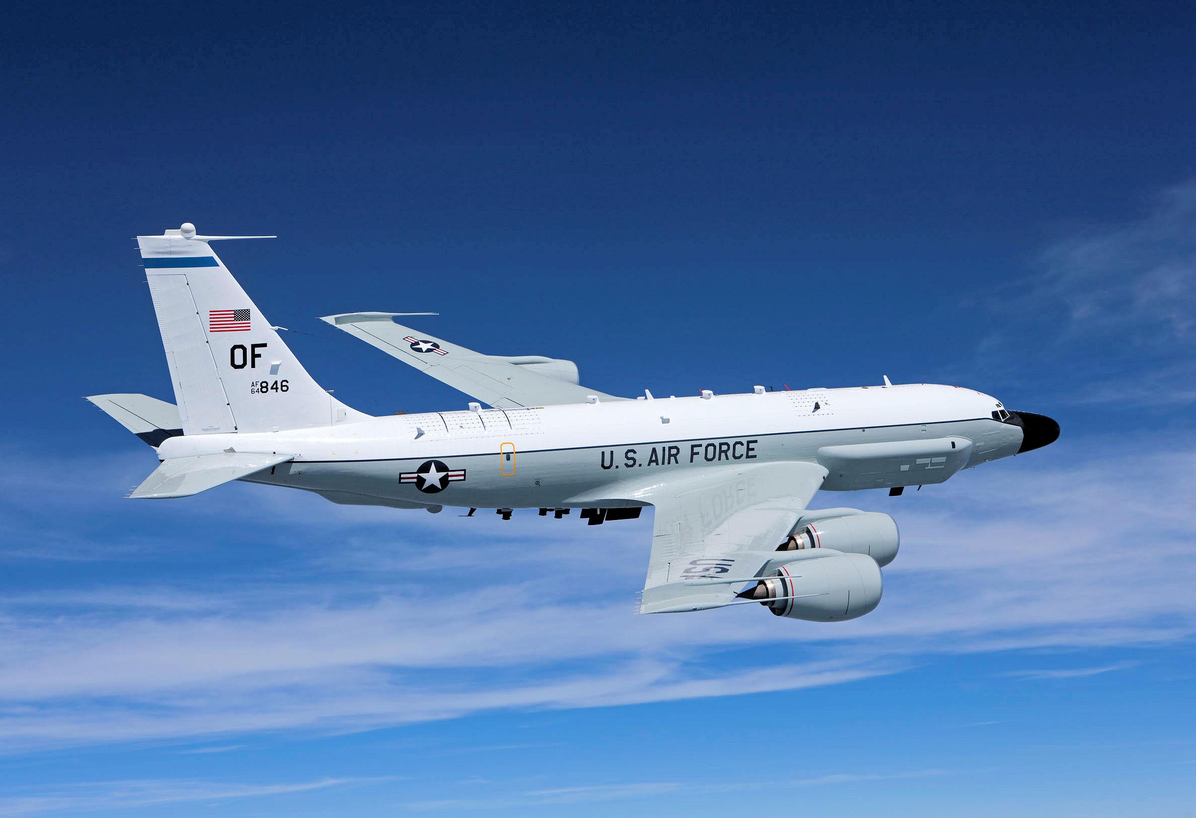 美电子战侦察机悄然出动 飞向克里米亚半岛沿岸