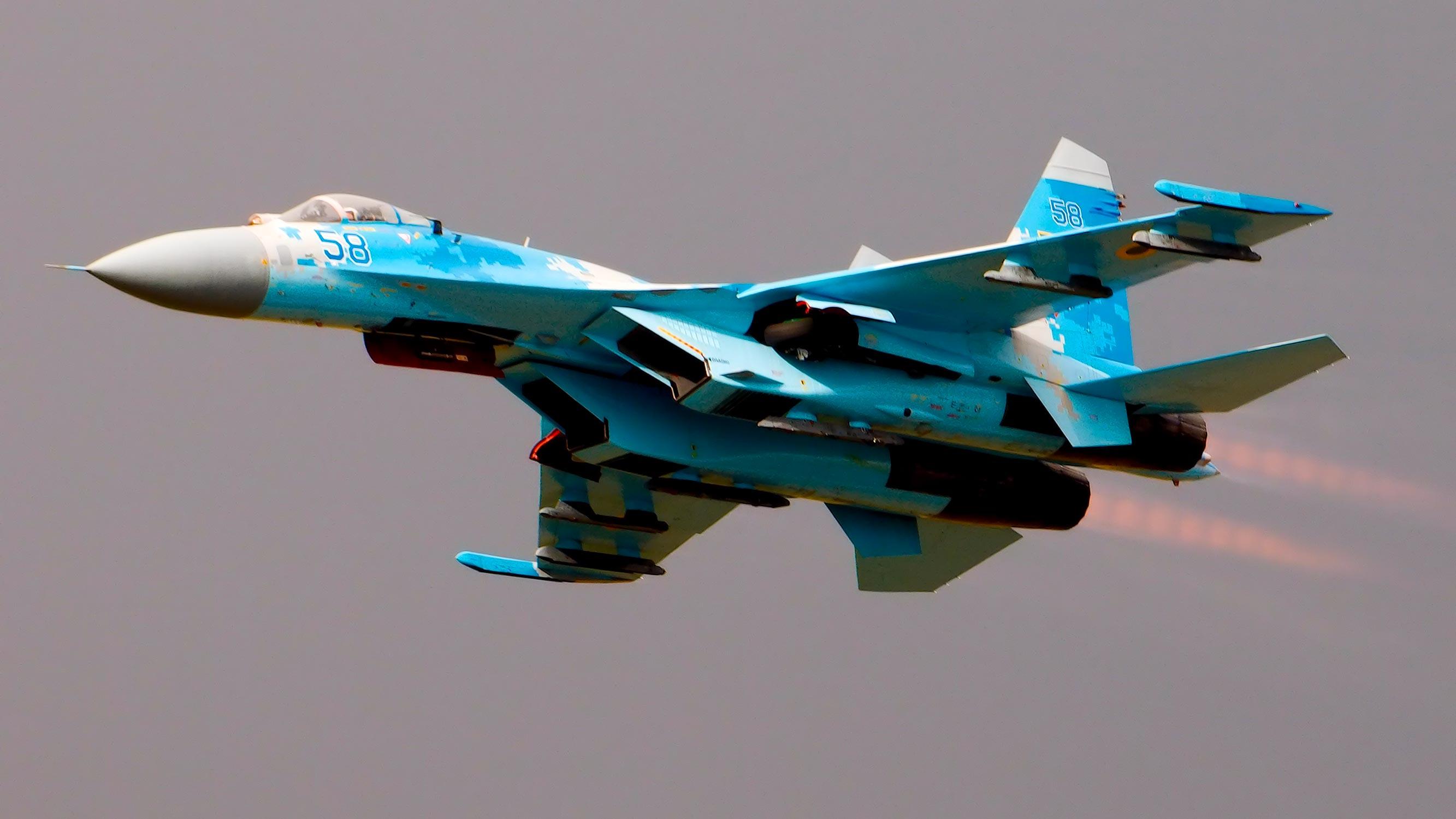 两个月前才刚摔一架:乌克兰又1架苏27战机坠毁