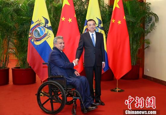 李克强会见厄瓜多尔总统莫雷诺
