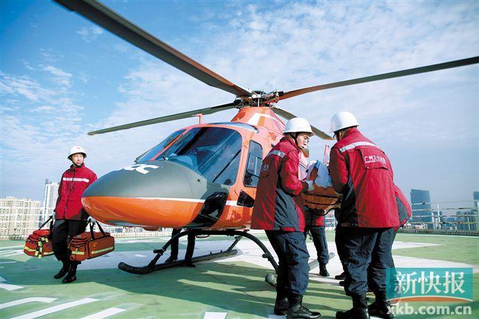 无缝空中医疗救援 重度烧伤男子跨国转院广州治疗