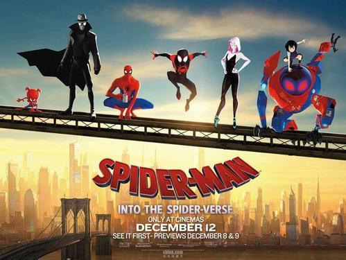 《蜘蛛侠:平行宇宙》登顶北美周末票房榜