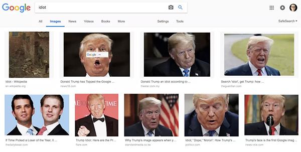 为何在谷歌搜索蠢货出现的是特朗普?谷歌CEO称没人为干扰