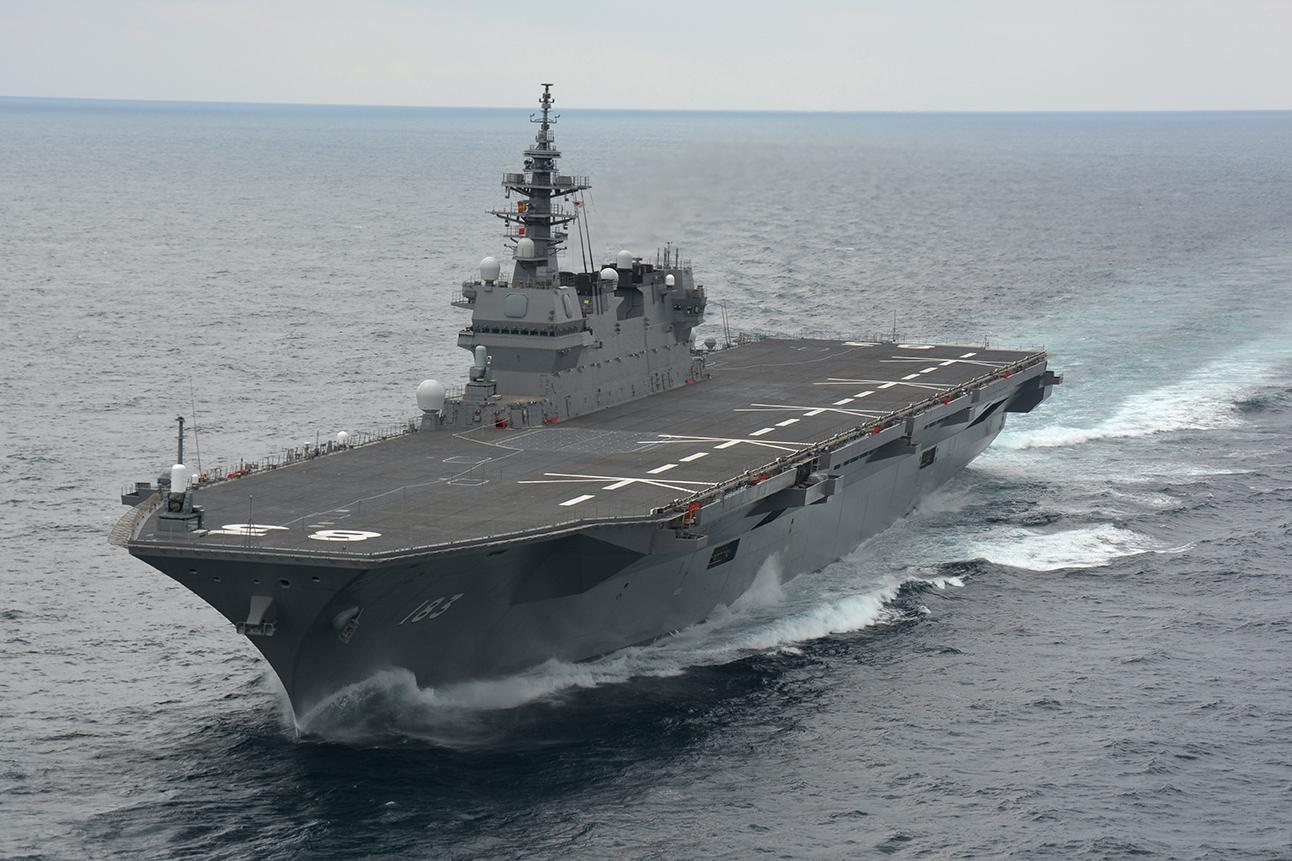日媒:出云号将成攻击航母 日本加速军事大国化