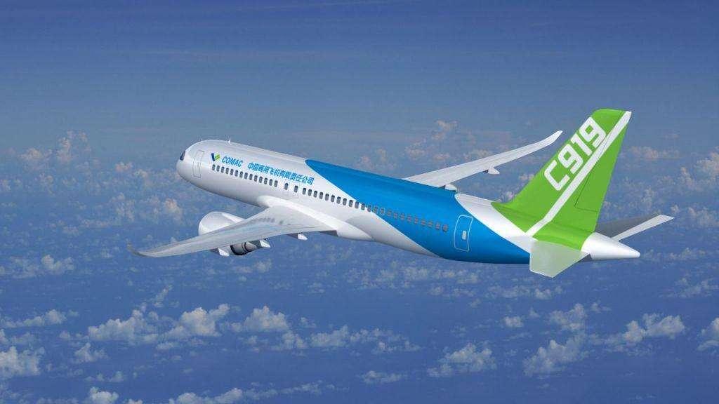 """国产客机C919""""103架机""""首飞 明年还将试飞三架"""