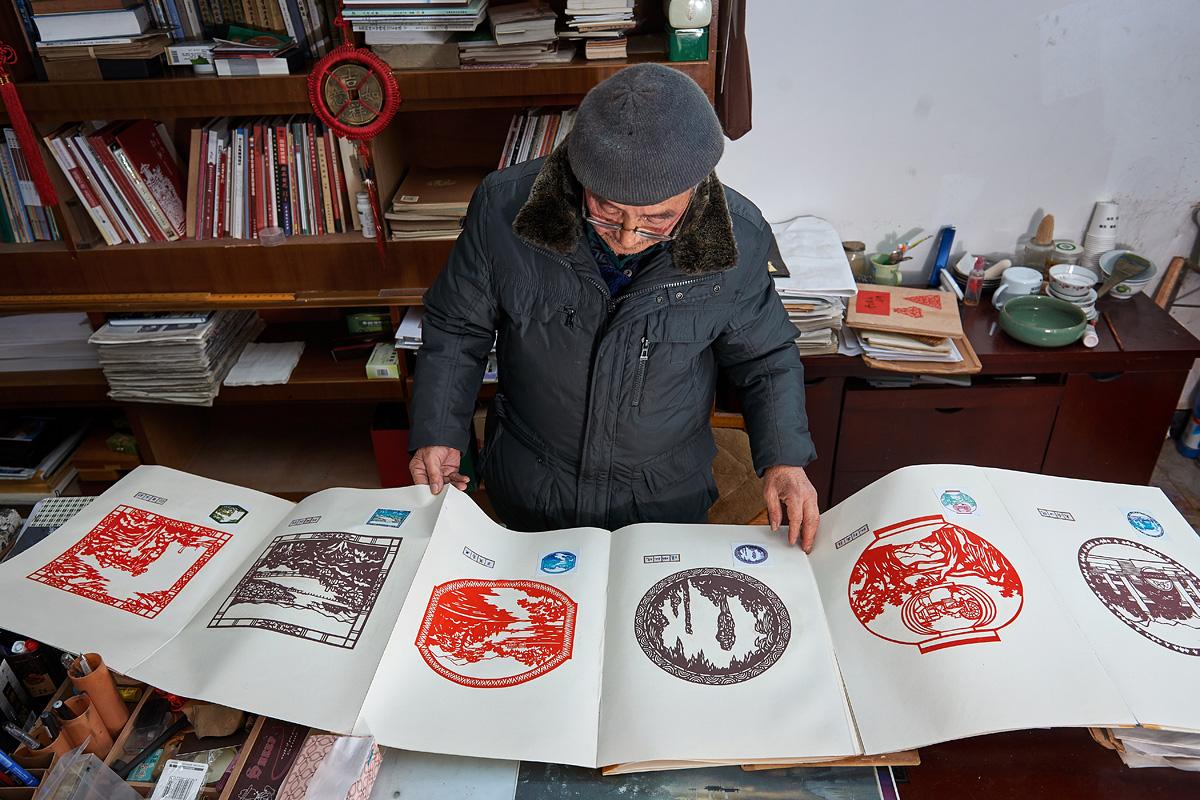 杭州桐庐老爷爷用几十年时间剪出家乡风光,作品成外交礼品