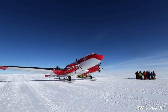 中国极地固定翼飞机成功降落南极冰盖之巅