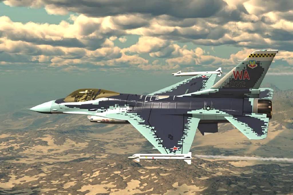美军公布F-16C新涂装方案:和苏57一模一样!