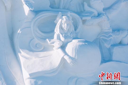 400位雪雕艺术家打造《王者荣耀》冰雪景观